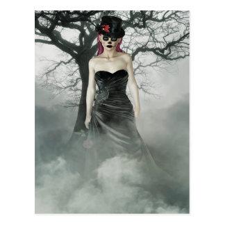 Fantasy goth female postcard