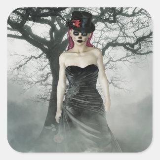 Fantasy goth female stickers