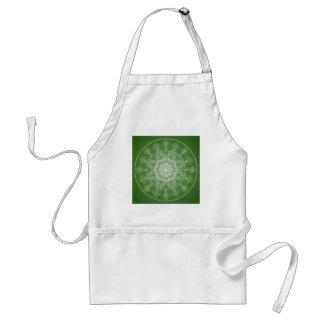 Fantasy Goth Mandala  Four Leaf Clover Irish Luck Standard Apron