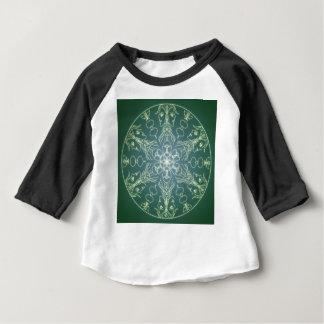 Fantasy Goth Mandala Green Elf Crystal Ball Baby T-Shirt