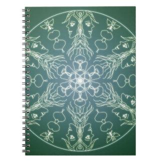 Fantasy Goth Mandala Green Elf Crystal Ball Notebook