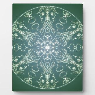 Fantasy Goth Mandala Green Elf Crystal Ball Plaque