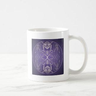 Fantasy Goth Mandala Griffon Crystal Ball Coffee Mug