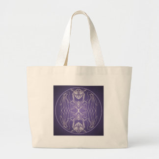 Fantasy Goth Mandala Griffon Crystal Ball Large Tote Bag