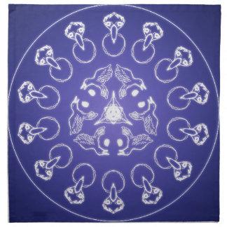 Fantasy Goth Mandala Raven Crow Crystal Ball Napkin