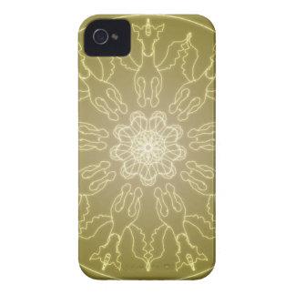 Fantasy Goth Mandala Winged Unicorn Crystal Ball iPhone 4 Case