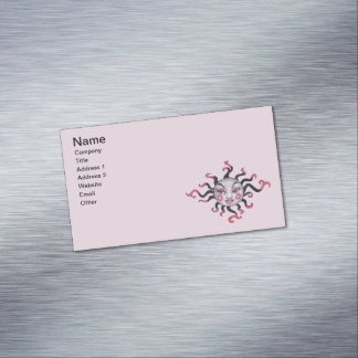 Fantasy Gothic Black Pink Sun Goddess Face Magnetic Business Cards