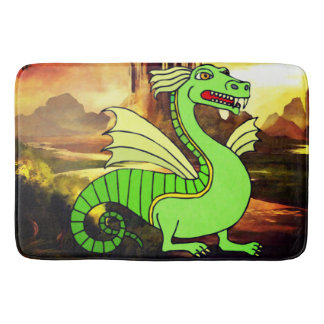Fantasy Green Dragon Bathmat