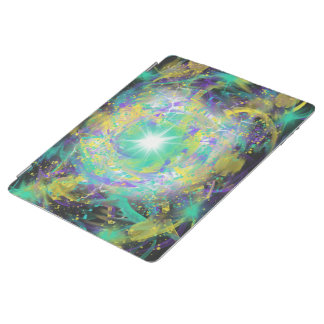 Fantasy Green Space Star Abstract Art Design iPad Cover