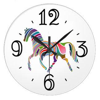 Fantasy Horse Animal Print Large Clock