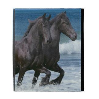 Fantasy Horses: Friesians & Sea iPad Folio Case