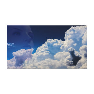 Fantasy in the clouds canvas print
