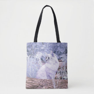 Fantasy kitty cat tote bag