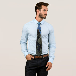Fantasy Knight 'MidKnight Ride V2' Men's Tie