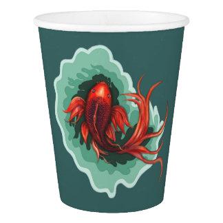 Fantasy Koi Carp Dragon Paper Cup