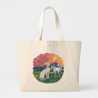 Fantasy Land (ff) - Devonshire Rex cat Jumbo Tote Bag