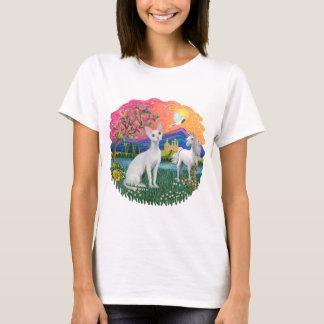 Fantasy Land (ff) - Devonshire Rex cat T-Shirt
