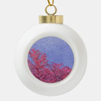 Fantasy Landscape Theme Poster Ceramic Ball Christmas Ornament