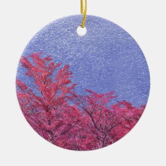Fantasy Landscape Theme Poster Ceramic Ornament