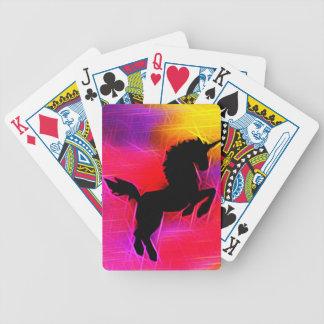 Fantasy lightening sky Unicorn Playing Cards
