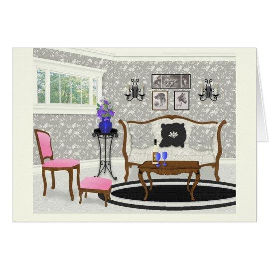 Fantasy Living Room Scene Card