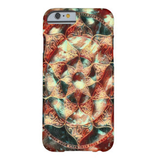 Fantasy Lotus Flower Mandala Oil Paint Barely There iPhone 6 Case