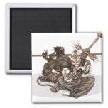 Fantasy Manga Warriors Fridge Magnets