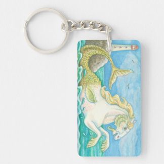 FANTASY MERHORSE AND LIGHTHOUSE KEYCHAIN Customize
