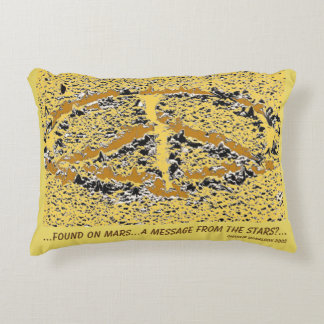 Fantasy message to the People of Earth? Decorative Cushion