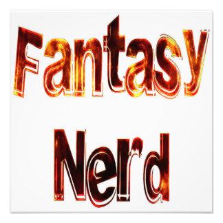 Fantasy Nerd Fire Photographic Print
