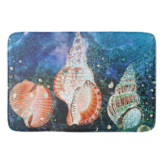 Fantasy Ocean Shells Custom Bath Mat