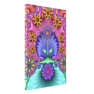 Fantasy Paradise Artistic fractal wallart Stretched Canvas Print