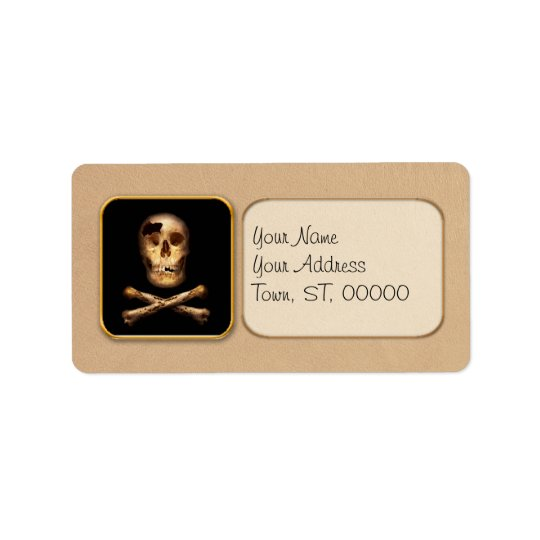 Fantasy - Pirate Flag - I'm a mighty pirate Address Label