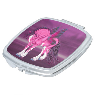 Fantasy Pixie Fairy Clydesdale Horse Compact Mirror