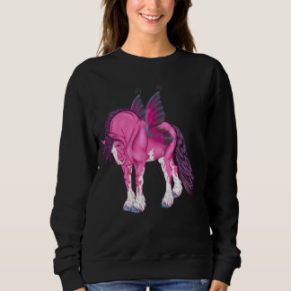 Fantasy Pixie Fairy Clydesdale Horse Sweatshirt