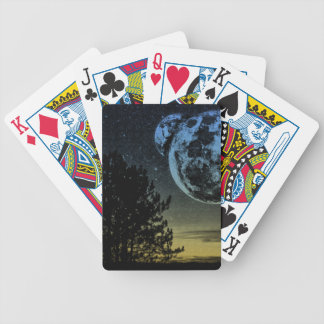 Fantasy planet bicycle playing cards