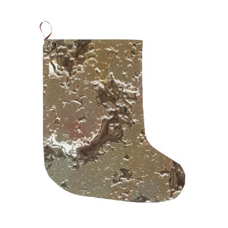 fantasy planet surface 2 large christmas stocking
