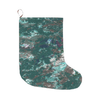 fantasy planet surface 6 large christmas stocking