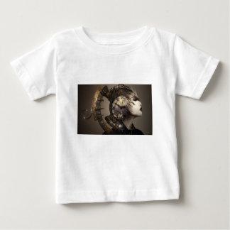 Fantasy Portrait Surreal Woman Helm Clock Baby T-Shirt
