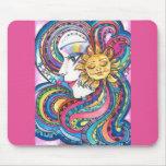 Fantasy Rainbow and Sun Mousepad