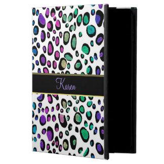 Fantasy Rainbow Glitter Leopard Print iPad Case