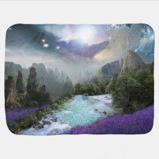 Fantasy Rainforest (Front)  Space Image (Back) Pramblankets