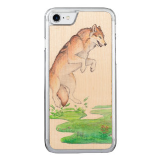Fantasy Red Brown Meadow Plant Creation Wolf Carved iPhone 8/7 Case