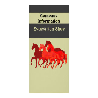 Fantasy Red Horses Rack Card