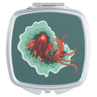 Fantasy Red Koi Karp Compact Travel Mirrors