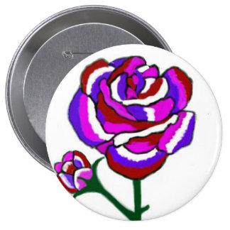 Fantasy Rose Round Button