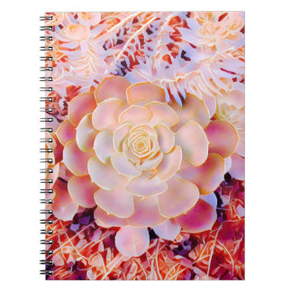 Fantasy salmon pick natural rosette note book