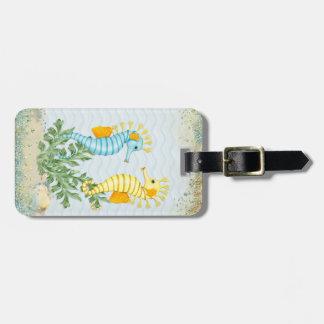 Fantasy Seahorse and Bling Luggage Tag