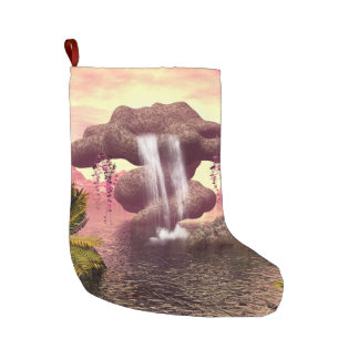 Fantasy seascape large christmas stocking