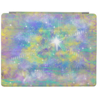 Fantasy Space Star Blue Yellow Abstract Art Design iPad Cover